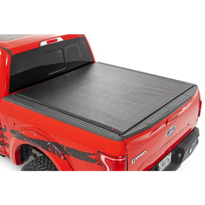 Rough Country Soft Roll Up Tonneau Bed Cover Ford F150 5 5 Ft Bed 2015 2016 2017 2018 2019 2020
