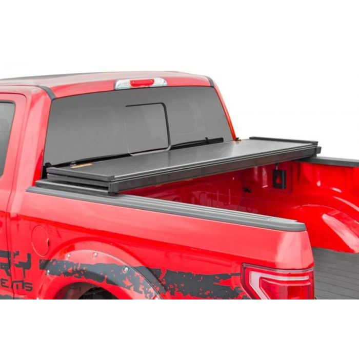 Rough Country Hard Tri Fold Tonneau Cover Toyota Tundra 5 5 Bed 2014 2015 2016 2017 2018 2019 2020